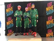 Jens - Sivert og Kristoffer - fornøyde med 3 km klassisk Ungdommens Holmenkollrenn G 14år